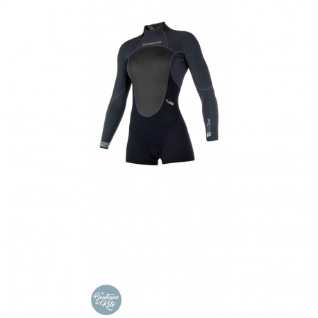 Brand Women 3/2 Longarm Shorty Backzip Flatlock